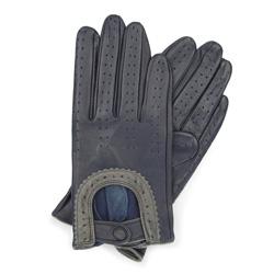 Rękawiczki damskie, granatowo - szary, 46-6L-292-GC-L, Zdjęcie 1
