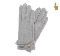 Rękawiczki damskie, szary, 47-6-102-S-U, Zdjęcie 1