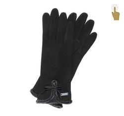 Rękawiczki damskie, czarny, 47-6-104-1-U, Zdjęcie 1