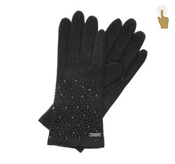 Rękawiczki damskie, czarny, 47-6-105-1-U, Zdjęcie 1