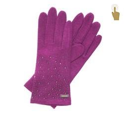 Rękawiczki damskie, fuksja, 47-6-105-2-U, Zdjęcie 1