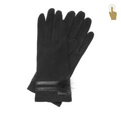 Rękawiczki damskie, czarny, 47-6-106-1-U, Zdjęcie 1