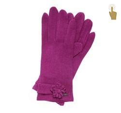 Rękawiczki damskie, fuksja, 47-6-107-2-U, Zdjęcie 1