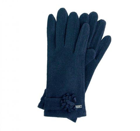 Rękawiczki damskie, granatowy, 47-6-107-7-U, Zdjęcie 1