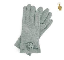 Rękawiczki damskie, szary, 47-6-107-S-U, Zdjęcie 1