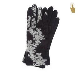 Rękawiczki damskie, czarny, 47-6-108-1-U, Zdjęcie 1
