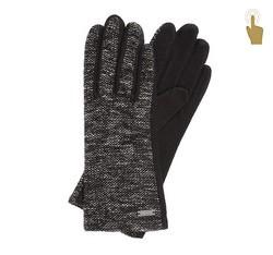 Rękawiczki damskie, czarno - szary, 47-6-109-1-U, Zdjęcie 1