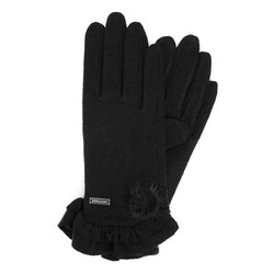 Rękawiczki damskie, czarny, 47-6-110-1-U, Zdjęcie 1