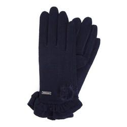 Rękawiczki damskie, granatowy, 47-6-110-7-U, Zdjęcie 1