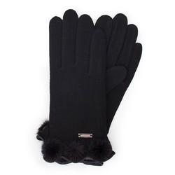 Rękawiczki damskie, czarny, 47-6-111-1-U, Zdjęcie 1
