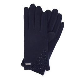 Rękawiczki damskie, granatowy, 47-6-112-7-U, Zdjęcie 1