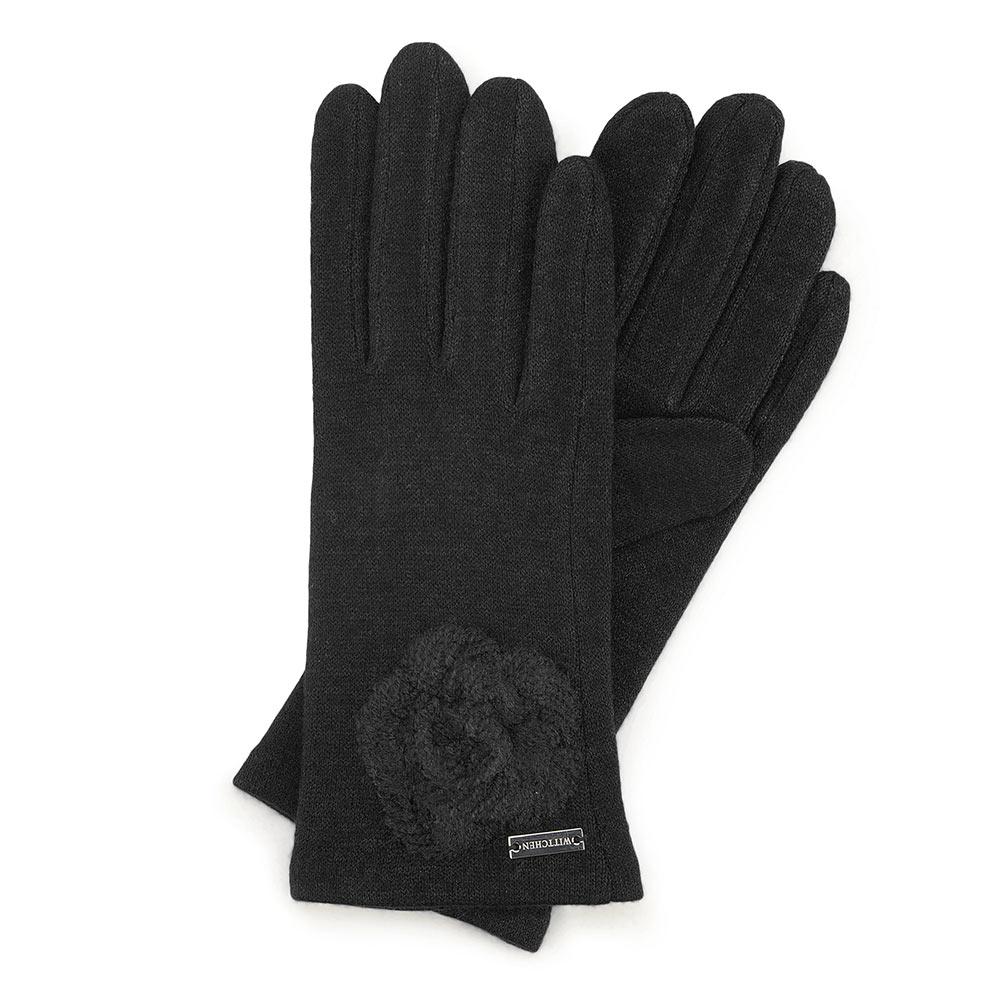 Čierne dámske rukavice.