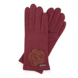 Rękawiczki damskie, bordowy, 47-6-113-2T-U, Zdjęcie 1