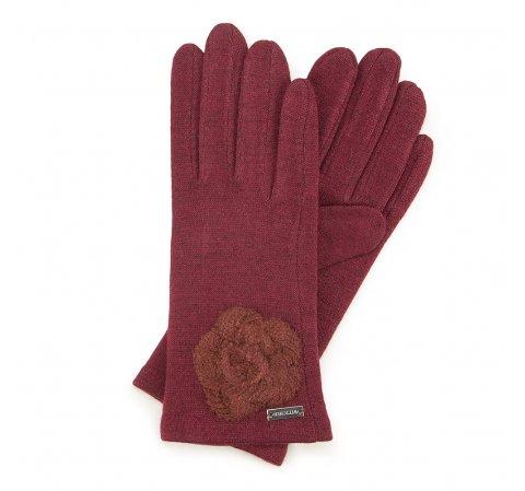 Rękawiczki damskie, bordowy, 47-6-113-1-U, Zdjęcie 1