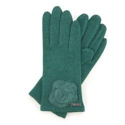Rękawiczki damskie, zielony, 47-6-113-Z-U, Zdjęcie 1