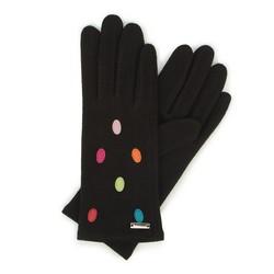 Damskie rękawiczki wełniane z kolorowymi kropkami, , 47-6-115-1X-U, Zdjęcie 1