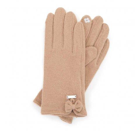 Damskie rękawiczki wełniane do smartfona, beżowy, 47-6-X92-3-U, Zdjęcie 1