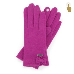 Women's wool gloves with touchscreen technology fingertip, purple, 47-6-X92-P-U, Photo 1