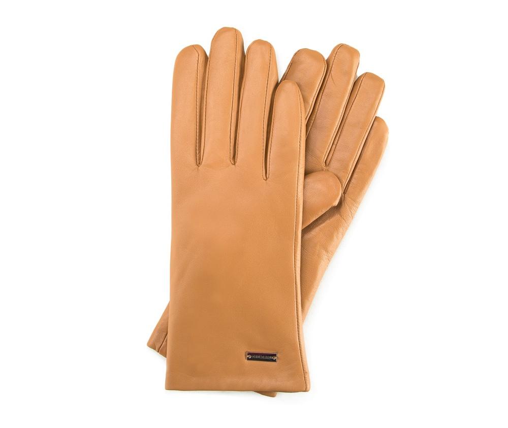 Перчатки женские кожаныеПерчатки женские кожаные<br><br>секс: женщина<br>Цвет: бежевый<br>Размер INT: L<br>материал:: Натуральная кожа