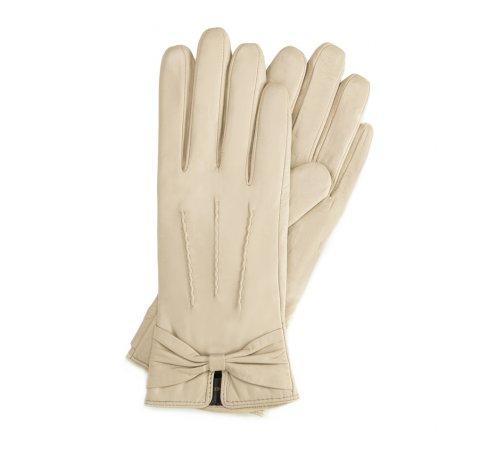 Rękawiczki damskie, kremowy, 39-6-528-A-V, Zdjęcie 1