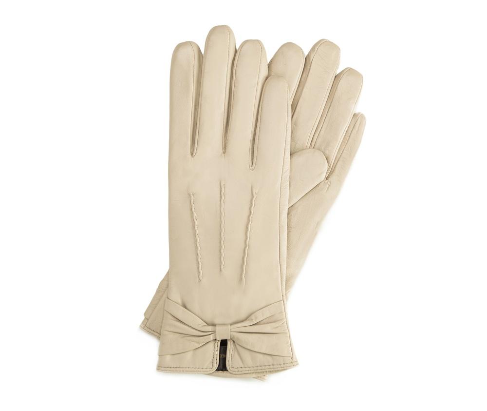 Перчатки женские кожаные Wittchen 39-6-528-A, кремовыйПерчатки женские кожаные<br><br>секс: женщина<br>Цвет: бежевый<br>Размер INT: M<br>материал:: Натуральная кожа