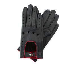 Rękawiczki damskie, czerwono - czarny, 46-6-274-12T-X, Zdjęcie 1