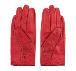 Damskie rękawiczki skórzane samochodowe, czerwony, 46-6L-292-2T-M, Zdjęcie 1
