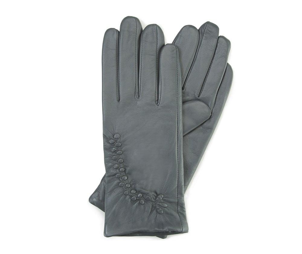 Перчатки женские кожаныеПерчатки женские кожаные<br><br>секс: женщина<br>Цвет: серый<br>Размер INT: XL<br>материал:: Натуральная кожа