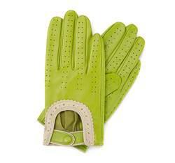 Rękawiczki damskie, limonkowy, 46-6L-292-7T-S, Zdjęcie 1