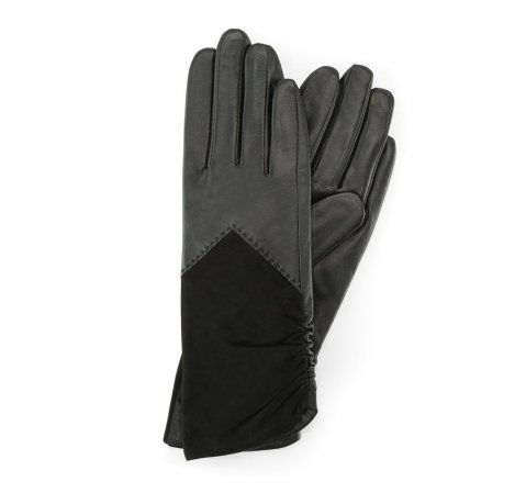 Rękawiczki damskie, czarny, 39-6-532-B-M, Zdjęcie 1