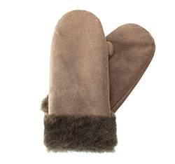 Rękawiczki damskie, ciemny  beż, 83-6-K01-4-L, Zdjęcie 1
