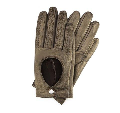 Women's gloves, gold, 46-6L-290-2P-M, Photo 1