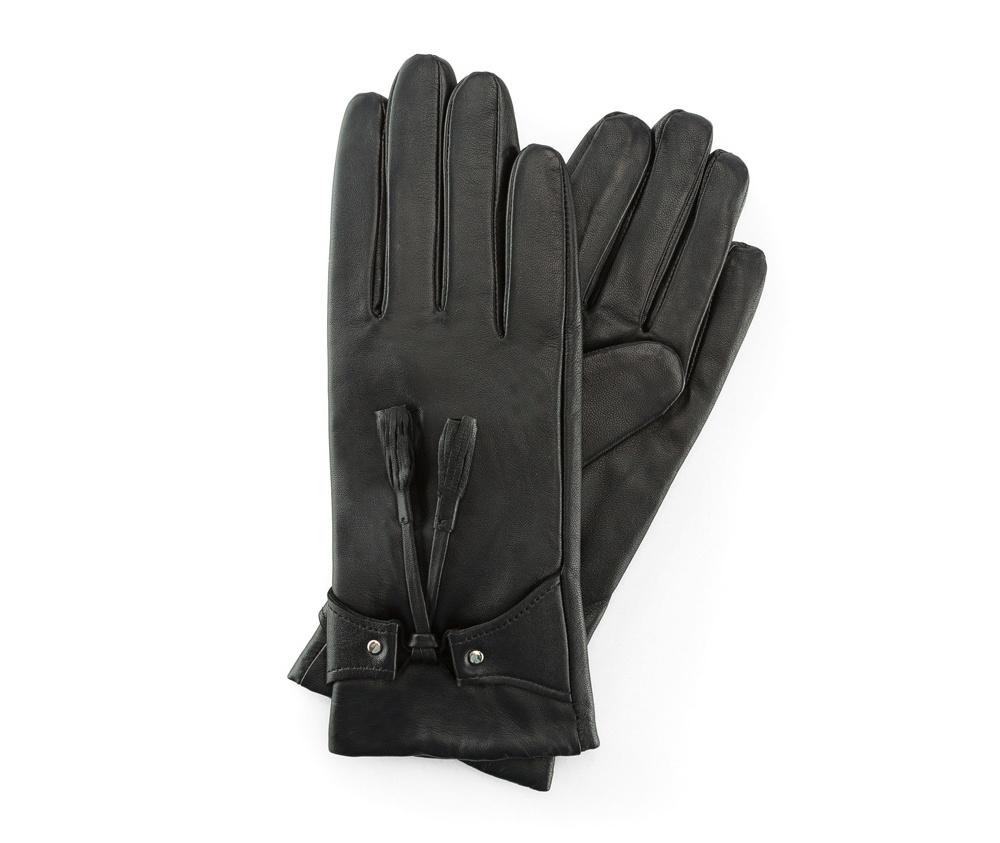 Перчатки женские кожаные Wittchen 39-6-537-1, черныйПерчатки женские кожаные<br><br>секс: женщина<br>Цвет: черный<br>Размер INT: M