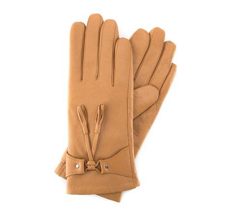 Rękawiczki damskie, beżowy, 39-6-537-P-S, Zdjęcie 1