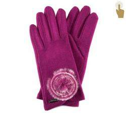 Rękawiczki damskie, bordowy, 47-6-101-2T-U, Zdjęcie 1