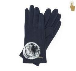 Rękawiczki damskie, granatowy, 47-6-101-7-U, Zdjęcie 1
