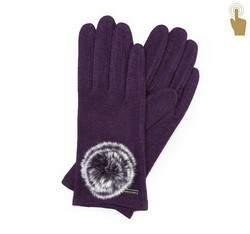Rękawiczki damskie, fioletowy, 47-6-101-P-U, Zdjęcie 1