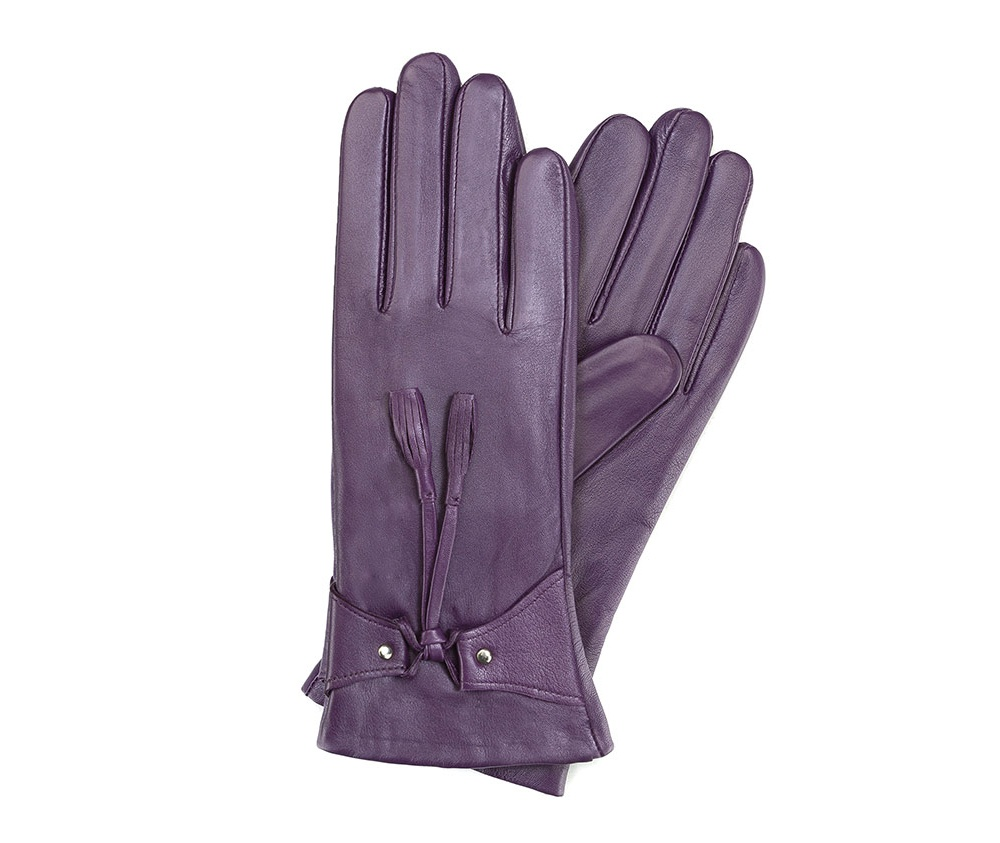 Перчатки женские кожаные Wittchen 39-6-537-P, фиолетовыйПерчатки женские кожаные<br><br>секс: женщина<br>Цвет: фиолетовый<br>Размер INT: S<br>материал:: Натуральная кожа