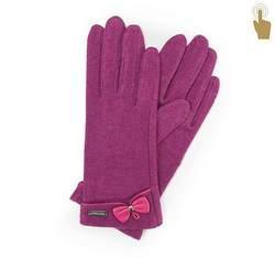 Rękawiczki damskie, fuksja, 47-6-102-2-U, Zdjęcie 1