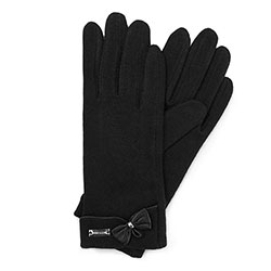 Women's gloves, black-silver, 47-6-102-7-U, Photo 1