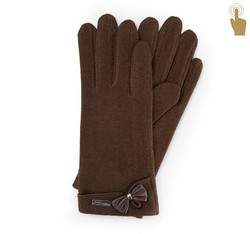Rękawiczki damskie, ciemny brąz, 47-6-102-D-U, Zdjęcie 1