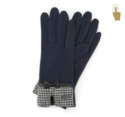 Rękawiczki damskie, granatowy, 47-6-103-7-U, Zdjęcie 1
