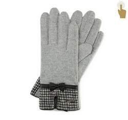 Rękawiczki damskie, szary, 47-6-103-S-U, Zdjęcie 1