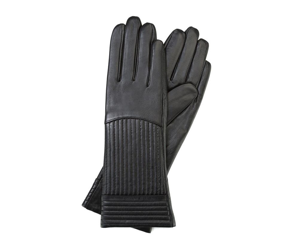 Перчатки женские кожаныеПерчатки женские кожаные<br><br>секс: женщина<br>Цвет: черный<br>Размер INT: L<br>материал:: Натуральная кожа