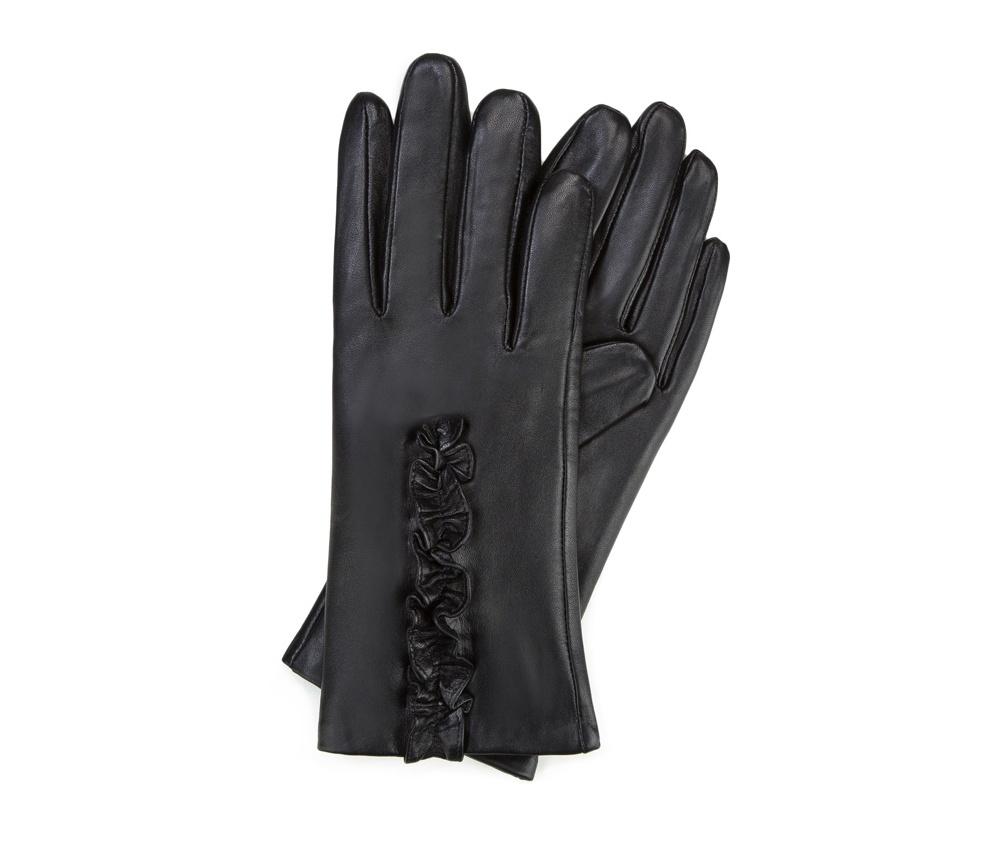 Перчатки женские кожаные Wittchen 39-6-534-1, черныйПерчатки женские кожаные<br><br>секс: женщина<br>Цвет: черный<br>Размер INT: V<br>материал:: Натуральная кожа