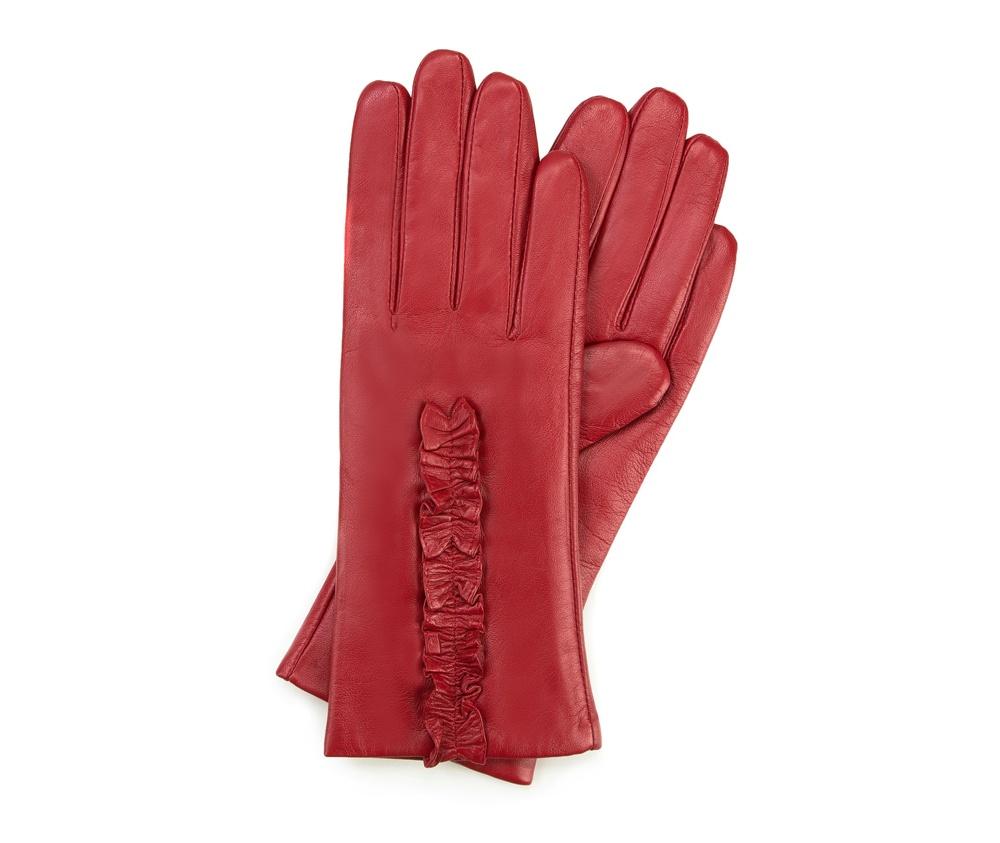 Перчатки женские кожаные Wittchen 39-6-534-2T, красныйПерчатки женские кожаные<br><br>секс: женщина<br>Размер INT: L
