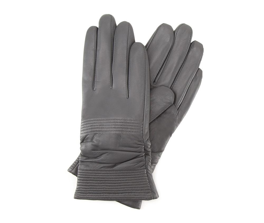 Перчатки женские кожаныеПерчатки женские кожаные<br><br>секс: женщина<br>Цвет: серый<br>Размер INT: L<br>материал:: Натуральная кожа