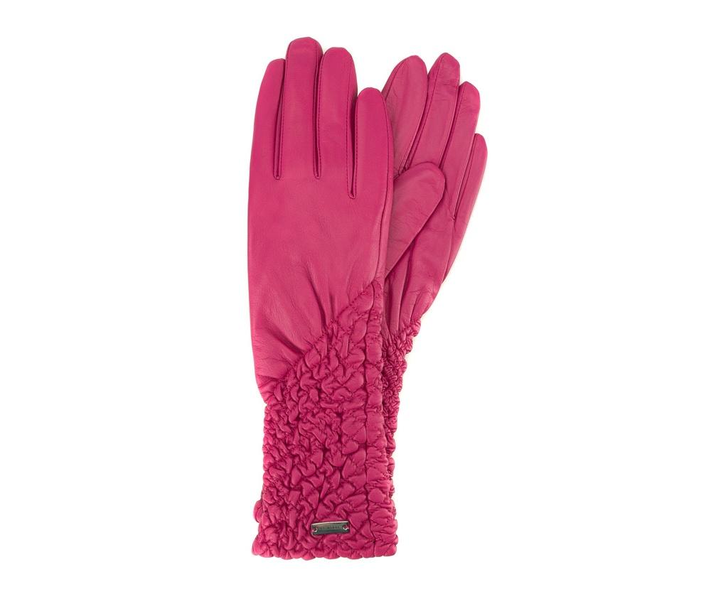 Перчатки женские кожаные Wittchen 39-6L-214-2, розовыйПерчатки женские кожаные<br><br>секс: женщина<br>Цвет: розовый<br>Размер INT: M<br>материал:: Натуральная кожа