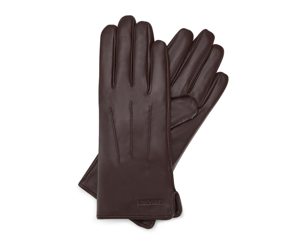 Перчатки женские кожаные Wittchen 39-6L-202-B, коричневыйПерчатки женские кожаные<br><br>секс: женщина<br>Цвет: коричневый<br>Размер INT: M<br>материал:: Натуральная кожа