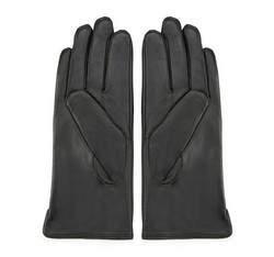 Damskie rękawiczki skórzane z pionowymi przeszyciami, czarny, 39-6L-202-1-X, Zdjęcie 1